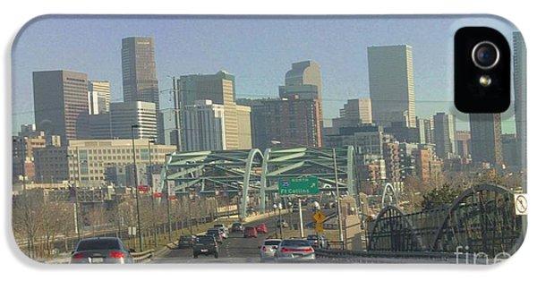 Denver Skyline View East From Speer 12 10 2011 IPhone 5 Case