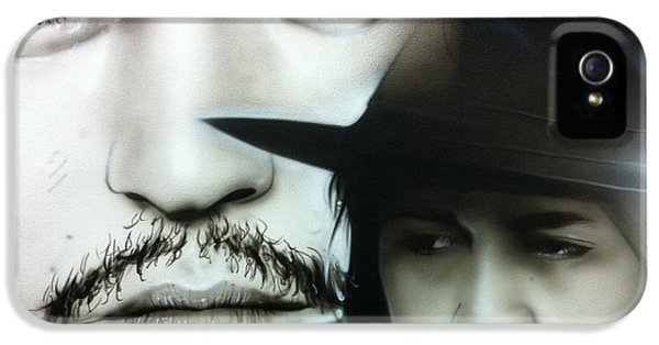 Johnny Depp - ' Depp ' IPhone 5 Case by Christian Chapman Art