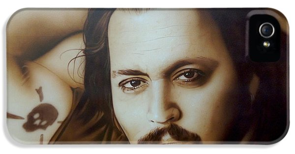 Johnny Depp - ' Depp II ' IPhone 5 / 5s Case by Christian Chapman Art