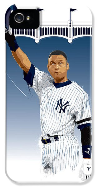 Derek Jeter iPhone 5 Case - Derek Jeter 3000 Hits by Scott Weigner