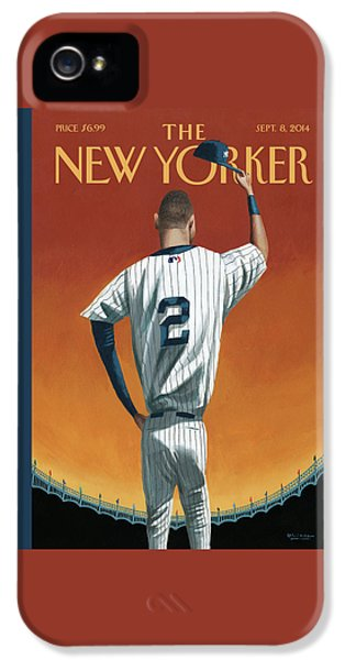 Derek Jeter iPhone 5 Case - Derek Jeter Bows by Mark Ulriksen