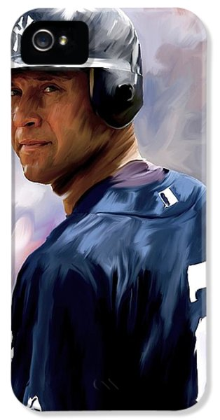 Derek Jeter  IPhone 5 / 5s Case by Iconic Images Art Gallery David Pucciarelli