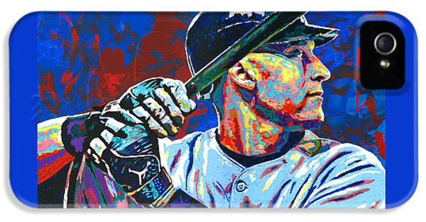 Derek Jeter IPhone 5 Case by Maria Arango