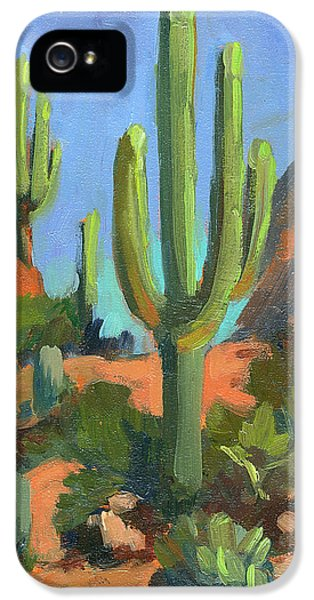Desert Morning Saguaro IPhone 5 Case by Diane McClary