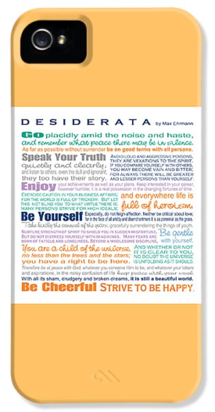 Desiderata - Multi-color - Square Format IPhone 5 Case