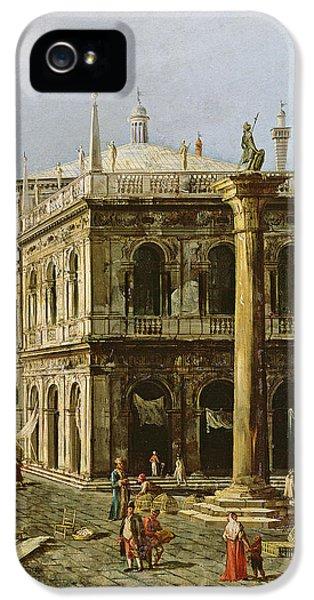 Detail Of Palazzo Della Zecca IPhone 5 Case by Michele Marieschi