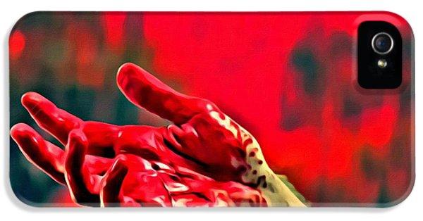 Dexter Bloody Hand IPhone 5 Case by Florian Rodarte