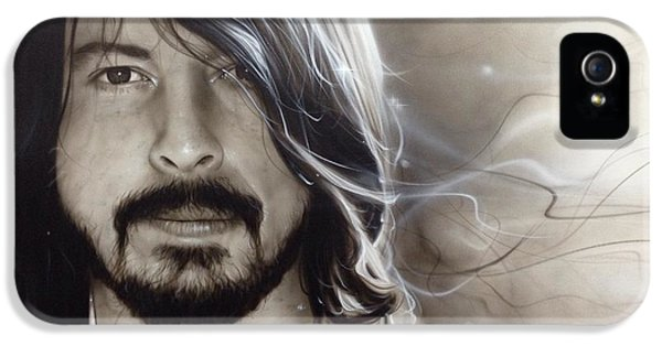 David Grohl - ' D. G. ' IPhone 5 Case by Christian Chapman Art