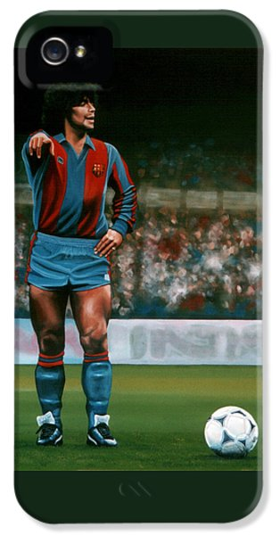 Diego Maradona IPhone 5 Case by Paul Meijering