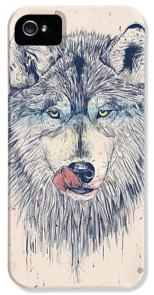 Wolf iPhone 5 Case - Dinner Time by Balazs Solti