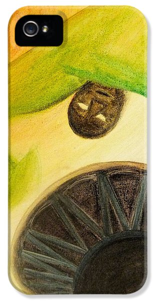 IPhone 5 Case featuring the painting Djembe by Marc Philippe Joly