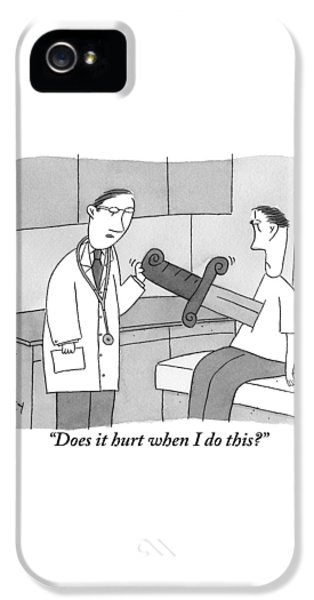 Doctor Says To Patient Who Has A Large Sword IPhone 5 Case