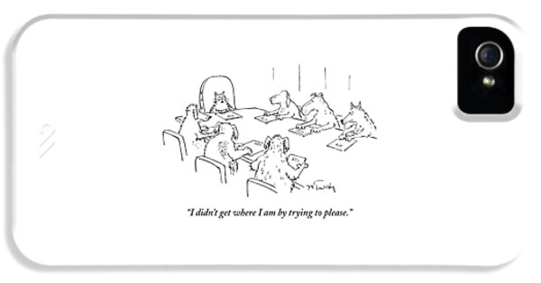 Dogs At A Meeting IPhone 5 Case by Mike Twohy