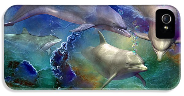 Dolphin Dream IPhone 5 / 5s Case by Carol Cavalaris