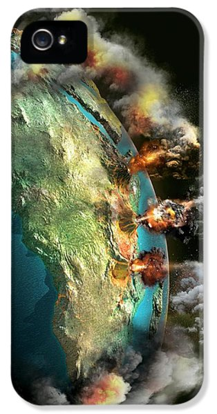 Doomsday Volcanoes IPhone 5 Case by Claus Lunau