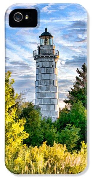 Door County Cana Island Beacon IPhone 5 Case by Christopher Arndt