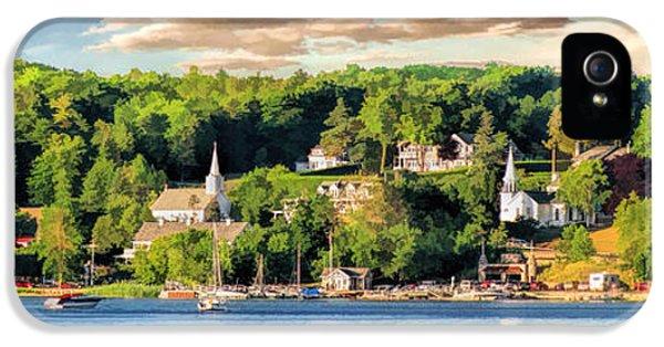 Door County Ephraim Harbor Sunset  Panorama IPhone 5 Case by Christopher Arndt