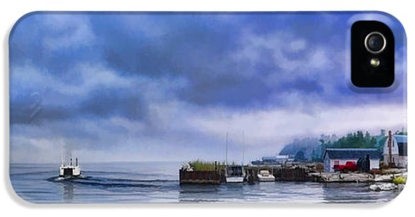 Door County Gills Rock Morning Catch Panorama IPhone 5 Case by Christopher Arndt