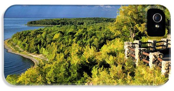 Door County Peninsula State Park Svens Bluff Overlook IPhone 5 Case by Christopher Arndt