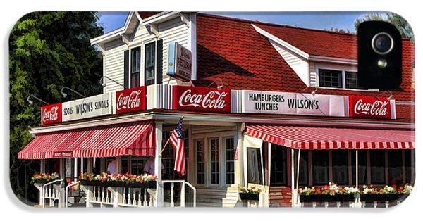 Door County Wilson's Ice Cream Store IPhone 5 Case by Christopher Arndt