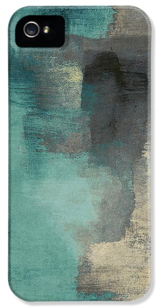 City Scenes iPhone 5 Case - Downtown Blue Rain I by Lanie Loreth