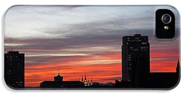 Downtown Glow IPhone 5 Case by Rona Black
