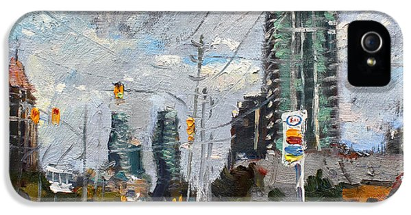 Downtown Mississauga On IPhone 5 Case by Ylli Haruni