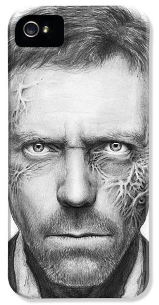 Pencil Drawing iPhone 5 Case - Dr. Gregory House - House Md by Olga Shvartsur