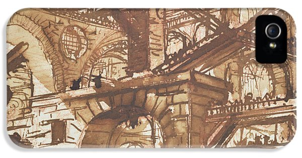 Dungeon iPhone 5 Case - Drawing Of An Imaginary Prison by Giovanni Battista Piranesi