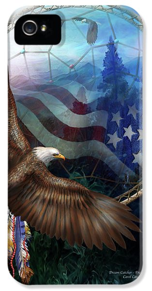 Dream Catcher - Freedom's Flight IPhone 5 Case by Carol Cavalaris