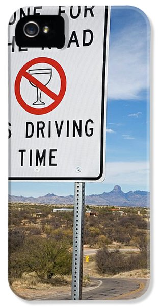 Drink-driving Warning Sign IPhone 5 Case