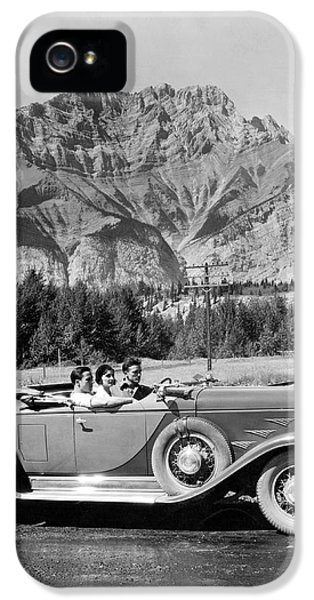 Drive In The Canadian Rockies IPhone 5 Case by Underwood Archives