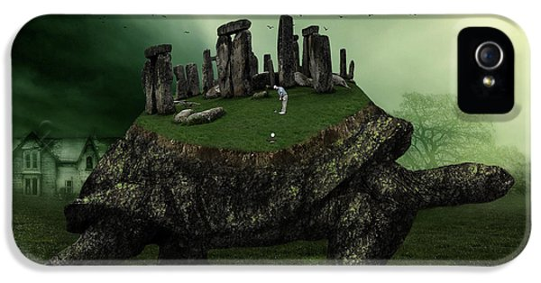 Turtle iPhone 5 Case - Druid Golf by Marian Voicu