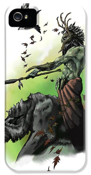 Dungeon iPhone 5 Case - Druid by Matt Kedzierski