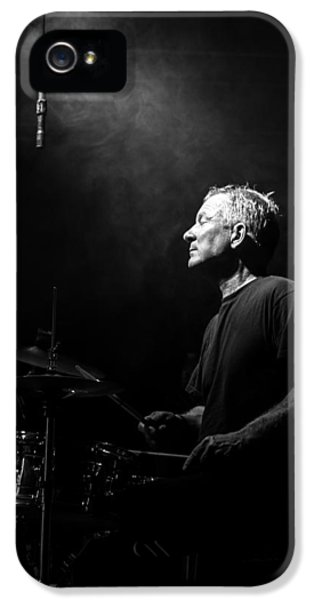 Drum iPhone 5 Case - Drummer Portrait Of A Muscian by Bob Orsillo