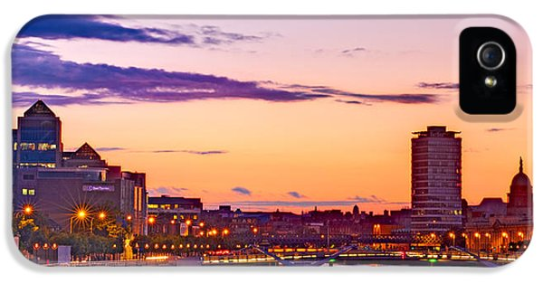 Dublin Skyline At Dusk / Dublin IPhone 5 Case by Barry O Carroll
