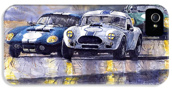 Duel Ac Cobra And Shelby Daytona Coupe 1965 IPhone 5 / 5s Case by Yuriy  Shevchuk