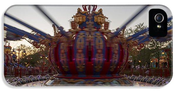 Dumbo The Flying Elephant Ride At Dusk IPhone 5 Case by Adam Romanowicz