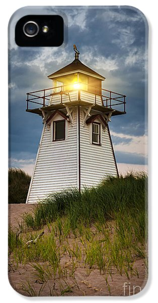 Dusk At Covehead Harbour Lighthouse IPhone 5 Case by Elena Elisseeva