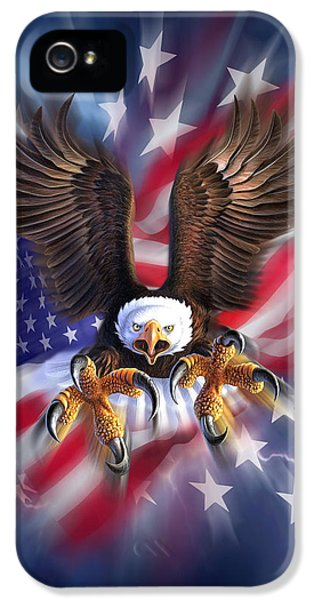 Eagle iPhone 5 Case - Eagle Burst by Jerry LoFaro