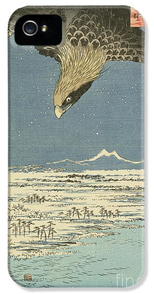 Eagle Over One Hundred Thousand Acre Plain At Susaki IPhone 5 Case by Hiroshige