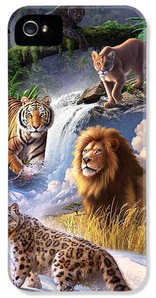Earth Day 2013 Poster IPhone 5 Case by Jerry LoFaro