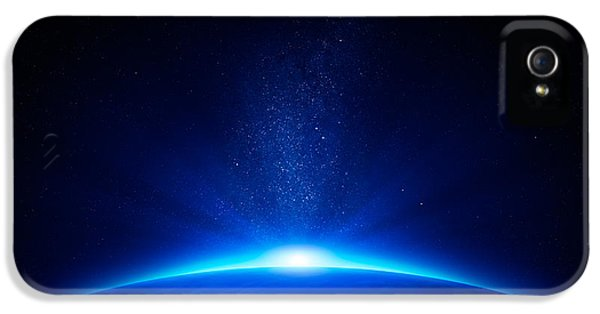 Earth Sunrise In Space IPhone 5 Case by Johan Swanepoel