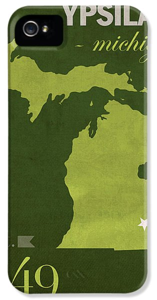 Eastern Michigan University Eagles Ypsilanti College Town State Map Poster Series No 035 IPhone 5 / 5s Case by Design Turnpike