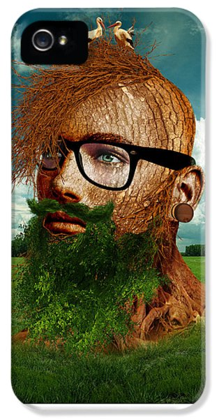 Eco Hipster IPhone 5 Case by Marian Voicu