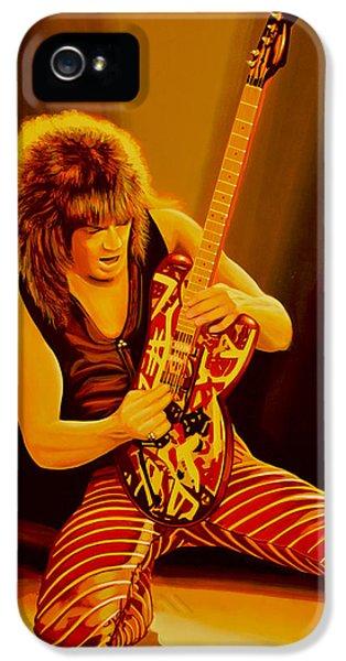 Eddie Van Halen Painting IPhone 5 / 5s Case by Paul Meijering
