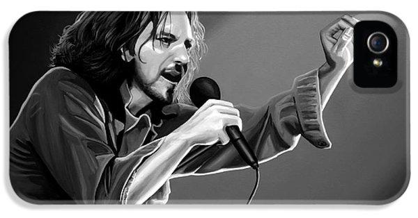 Pearl Jam iPhone 5 Case - Eddie Vedder  by Meijering Manupix