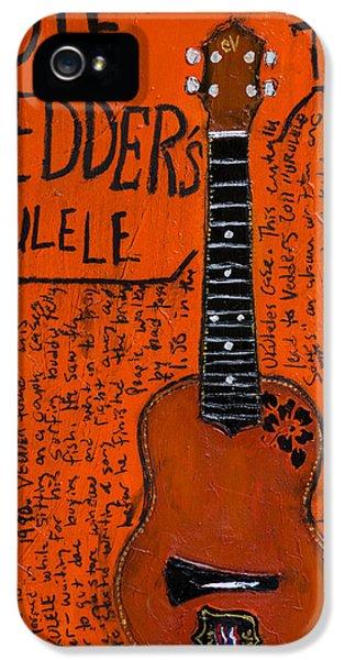 Eddie Vedder Ukulele IPhone 5 / 5s Case by Karl Haglund
