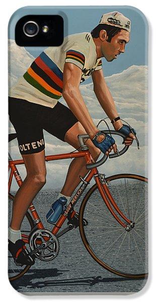 Eddy Merckx IPhone 5 Case by Paul Meijering
