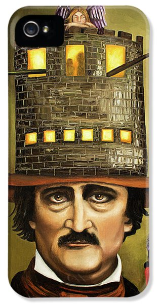 Edgar Allan Poe IPhone 5 Case by Leah Saulnier The Painting Maniac